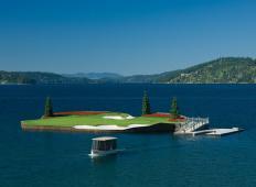 Golf igrišče v ZDA kar sredi jezera