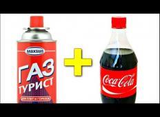 Coca Cola + propan = ? Poglejte kaj se zgodi